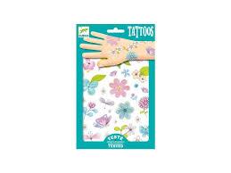 Sada Tetování Třpytivé Květiny