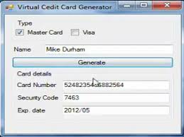Code Generator Credit Card With Cvv