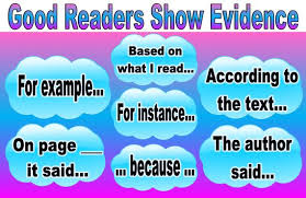 Text Based Evidence Anchor Chart Good Readers Show Evidence Anchor Chart Laminated