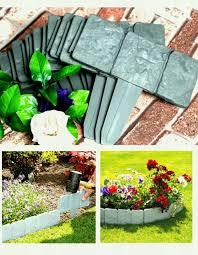 pcs lakeland cobbled stone effect plastic garden edging hammer in lawn palisade china get