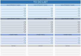 Prioritized To Do Lists To Do List Templates For Excel