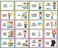Printable Classroom Job Chart Pictures Www