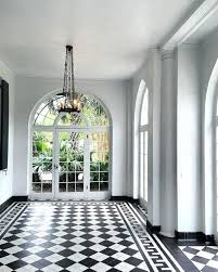 Full Image For Stunning Black And White Checkerboard Floors Floor To  Ceiling Arched Windowsblack Checkered Laminate ...