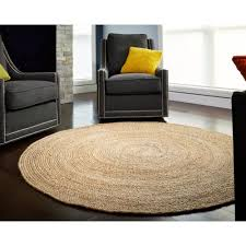 zwolle round jute rug natural and brown 4 x4 beach style area rugs by anji mountain 313528954161