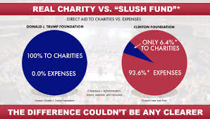 Charity Efficiency Chart Foundation Faceoff The Trump Foundation Vs The Clinton