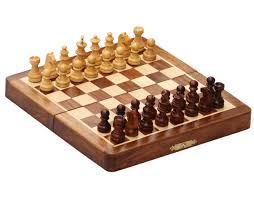 smart moves handmade 7x7 rosewood staunton travel chess set with magnetic chessmen storage