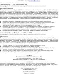 executive administrative assistant resume sample construction administrative assistant resume