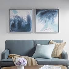 lagoon 2 gel coat framed canvas 2pc decorative wall art set blue on set of 2 framed wall art with lagoon 2 gel coat framed canvas 2pc decorative wall art set blue