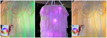 picture of light up boho chandelier