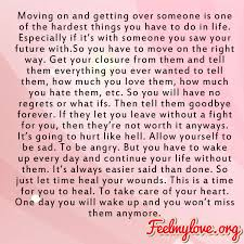 Quotes About Getting Over Someone Unique Moving On And Getting Over Someone Is One Of The Hardest Things You