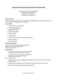 Customer Service Sample Resume Good Sample Resume For Customer Service Executive Technical Support 39