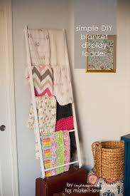 diy blanket storage display ladder a truly simple design