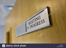 Meeting In Progress Sign On Stock Photos Meeting In Progress Sign