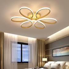 modern golden re led chandelier