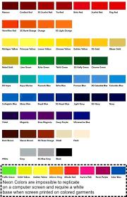Color Chart Ltw Apparel