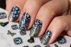 Vintage Flowers 3D Nail Art Stickers / Polished Polyglot