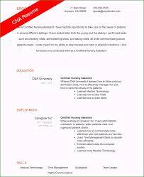 Sample Certified Nursing Assistant Resume Certified Nursing Assistant Resume Examples Greatest Cna