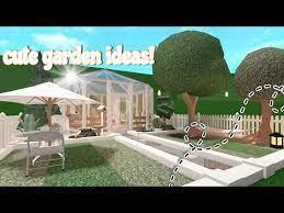 aesthetic garden ideas bloxburg