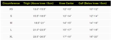 Donjoy Knee Brace Size Chart Donjoy Reaction Replacement Undersleeve