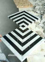 black and white marble mosaic floor tile on mesh high quality bathroom tiles in lagos floor tiles