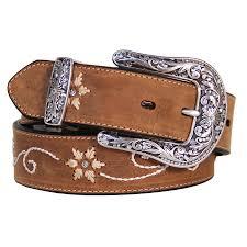 fl stitched distressed leather belt n3447044