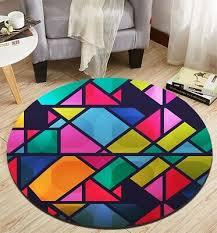 colorful striped geometry home area rug room desk floor carpet kids crawling mat