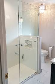 corner frameless shower door towel bar