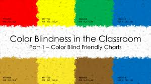 Color Blindness In The Classroom Part 1 Color Blind