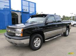 2003 Black Chevrolet Silverado 1500 Z71 Extended Cab 4x4 #54203125 ...