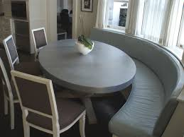 zinc dining room table. Custom Zinc Table Top Oval Banquette Dining Room E