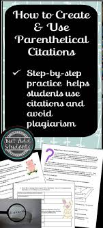 How To Summarize Quote And Create Parenthetical Citations For