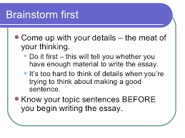 paragraph essay construction
