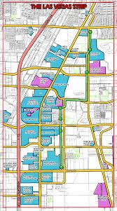las vegas strip map  las vegas nv • mappery