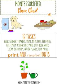 Montessorified Chore Chart Tasks