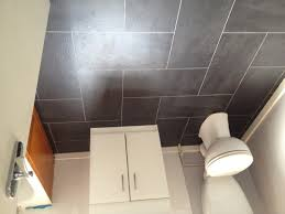 Good ... How To Install Laminate Flooring Tile Floor Interior Design Grey  Ceramic With White Vanity Also Toilet ... Great Pictures