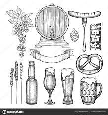Grafische Bier Collectie Stockvector Homunkulus28 189274230