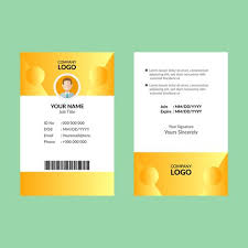 Company Id Card Template Yellow Id Card Template Download Free Vectors Clipart