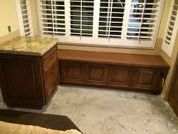 Kitchen Window Seat August Oak Woodworks Temecula California Window Seat Cabinets