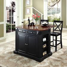 breakfast bars furniture. Crosley Drop Leaf Breakfast Bar Top Kitchen Island With 24 In. X-Back Stools | Hayneedle Bars Furniture E
