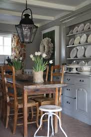 dining table hutch. beautiful kitchen design with iron lantern, rustic dining table \u0026 matching chairs, white industrial stool, gray walls paint color and buffet hutch painted