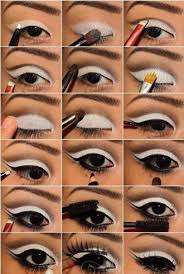 though a lot of diffe colors were used white was the preferred color of choice now you know how to do the 60s eye makeup
