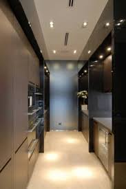 galley kitchens modern design with recessed lighting fixtures