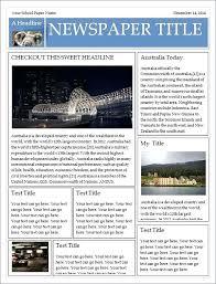 Microsoft Newspaper Article Template Newspaper Article Template Microsoft Word Grupofive Co