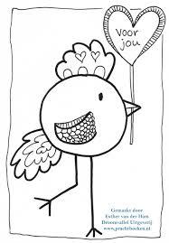 Vogel Kleurplaat Voor Jou Droomvallei Uitgeverij