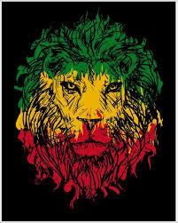 Rasta Theme With Lion Head Poster