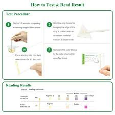 Urinalysis Reagent Strips Chart Easy Home 25 Individual Pouch Urinary Tract Infection Test Strips Uti Urine Testing Kit For Urinalysis And Detection Of Leukocytes And Nitrites