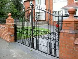 Wrought Iron Fence Brick Decorative Wrought Iron Fence Brick