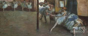 rs painting the ballet rehearsal 1891 by edgar degas