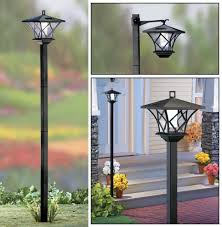 outdoor lamp post light bulbs awesome 5 ft tall solar powered 2 in 1 outdoor garden