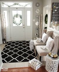 Image Decorating Ideas Holiday Home Decor Ideas How To Decorate An Elegant And Neutral Christmas Foyer Manenoinfo Elegant And Neutral Christmas Foyer Diy Home Decor Ideas Home